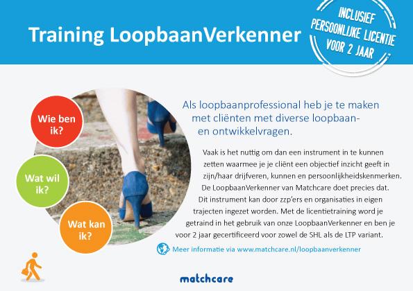 Voorkant flyer LoopbaanVerkenner Matchcare